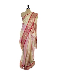Ornate Cotton Silk Saree - Spatika Sarees