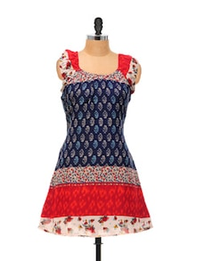 Printed Cotton Tunic Top - Ayaany