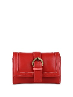 Red Wallet With Mobile Phone Pocket - ALESSIA