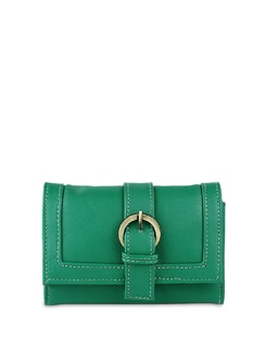 Green Wallet With Mobile Phone Pocket - ALESSIA
