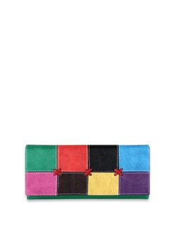 Multi Coloured Patchwork Wallet - ALESSIA