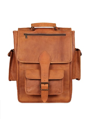 Brown Pure Leather Satchel