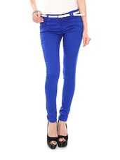 Royal Blue Cotton Lycra Stretchable Jeggings - Glam And Luxe
