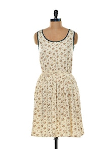 Flower Power Beige Dress - Mishka