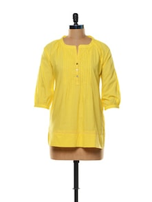 Sunshine Yellow Cotton Top - Mishka