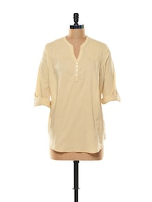 Beautiful Beige Cotton Top - Mishka