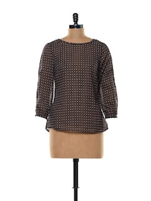 Patterned Polyester Top - Trend 18