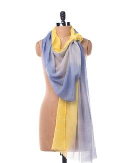 Gradient Scarf In Silk Wool - Chalk N Cheese Lifestyles