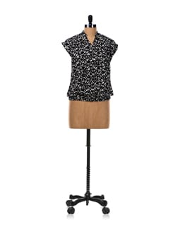 Butterfly Print Short Sleeved Shirt - Van Heusen