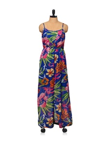 Tropical Print Summer Maxi Dress - STREET 9