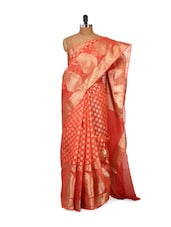 Maroon and Gold Saree -  online shopping for Sarees