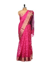 Pink Cotton Silk Saree - Bunkar