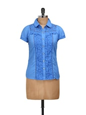 Blue Cotton Lace Shirt - Concepts
