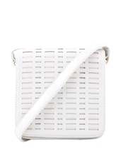 Off White Woven Strap Sling Bag - Addons