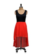 Red And Black Party Dress - Salt