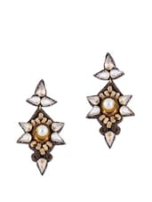 Glass Crystals Studded Chunky Earrings - Psquare