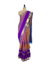Multi Colored Kanchipuram Handloom Silk Saree - Pothys