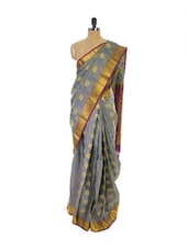 Grey Kanchipuram Vasundhra Pattu Silk Saree - Pothys