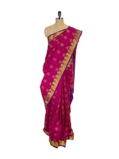 Pink Kanchipuram Vasundhra Pattu Silk Saree - Pothys