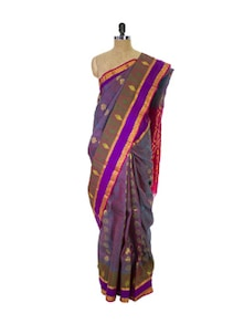 Multi Colored Kanchipuram Vasundhra Pattu Silk Saree With Zari Work - Pothys