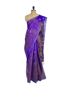 Purple Kanchipuram Uppada Pattu Silk Saree - Pothys
