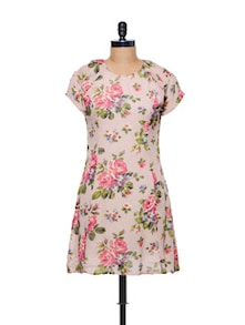 Rose Print Dress - CHERYMOYA