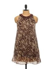 Brown Peter Pan Collar Dress - EIGHTEEN27