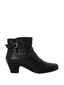 Black Leatherette Boots - La Briza