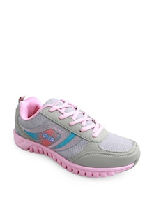 Grey And Pink Cushioned Sneakers - Columbus