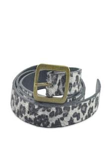 Black And Grey Animal Print Belt - ANTIFORMAL