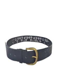 Black Floral Cutwork Belt - ANTIFORMAL
