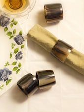 Buffalo Horn Napkin Rings (Set Of 4) - ARM'S