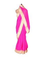 Pink And Gold Georgette Saree - Vishal Sarees