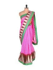 Pink Super Net Saree - Vishal Sarees