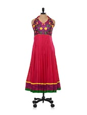 Cherry Red Halter Neck Kurta - Concepts