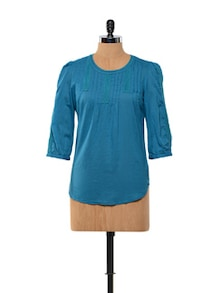 Deep Blue Cotton Top - Kaxiaa