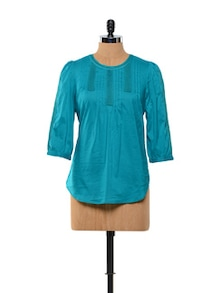 Turquoise Cotton Top - Kaxiaa