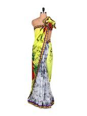 Floral Print Bhagalpuri Silk Saree - Riti Riwaz