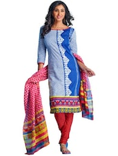 Pretty Cotton Unstitched Dress Material - Ethnic Vibe