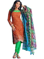 Ambi Print Unstitched Dress Material - Ethnic Vibe
