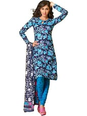 Multi Floral Print Unstitched Dress Material - Ethnic Vibe
