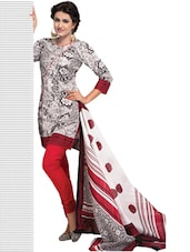 Printed Unstitched Cotton Dress Material - Ethnic Vibe