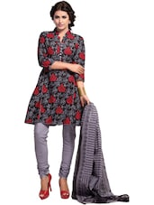 Floral Print Dress Material - Ethnic Vibe