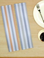 Sassy Striped Set Of 2 Kitchen Towels - Home Colors