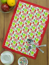 Red And Lime Green Printed Placemats (set Of 4) - Home Colors