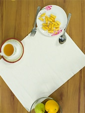 Pure White Placemats Made In Cotton (set Of 4) - Home Colors