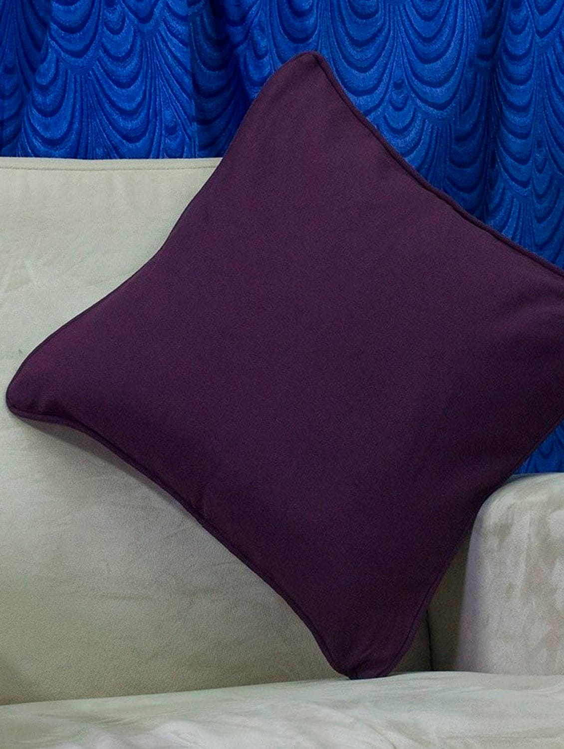 Set Of 2 Bright Purple Cotton Cushion Covers - Home Colors