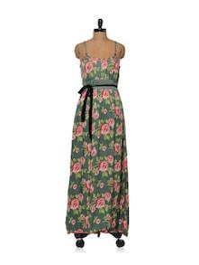 Rose Print Maxi Dress - Lyla
