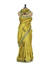 Goldenrod Yellow Paisley Saree - Get Style At Home