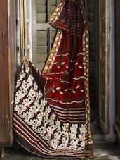 Maroon Handloom Cotton Silk Saree - Cotton Koleksi